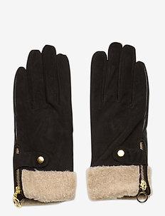 Day Glove Suede w Teddy Cuff - rękawiczki - black