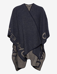 Day ET Logo Poncho - ponchos & capes - blue nights