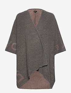 Day ET Logo Poncho - ponchos en capes - forged iron grey