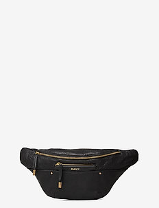 Day Bubbly Leather Bum - magväskor - black