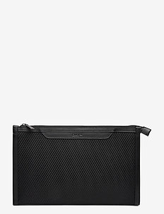Day Structure Canvas Clutch - clutches - black