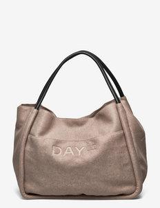 Day Woolen Mega Shopper - shoppers - taupe melange