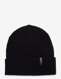 Day Rib Knit Hat - luer - black
