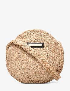 Day Straw Round Bag S - shoulder bags - natural