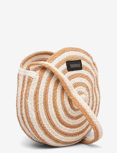 Day Et Straw Stripe Cb- Olkalaukut Camel Beige