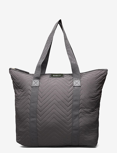 Day Gweneth RE-X Chewron Bag - tote bags - forged iron grey