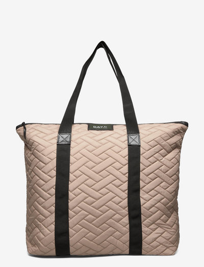 Day Gweneth RE-Q Tiles Bag - tote bags - timber wolf