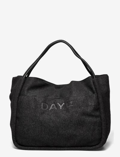 Day Woolen Mega Shopper - shopper-laukut - dark grey mel