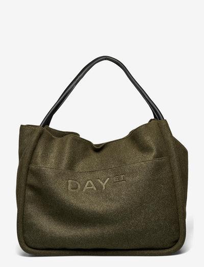 Day Woolen Mega Shopper - shopper-laukut - dark olive