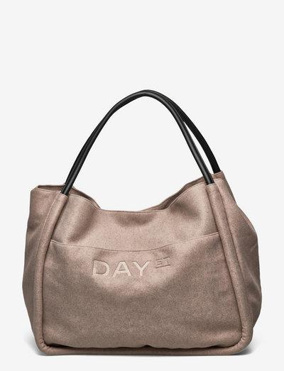 Day Woolen Mega Shopper - shopper-laukut - taupe melange
