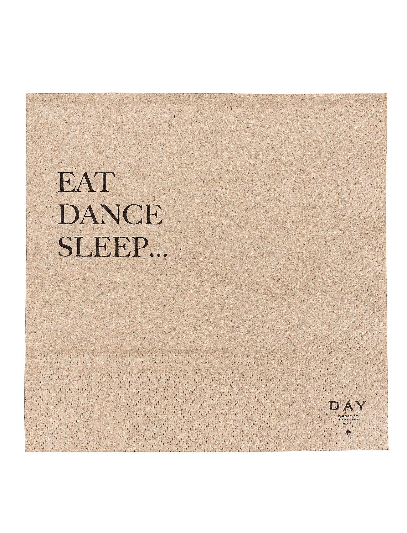 DAY Home Day Paper Napkin, Eat/Dance/Sleep - BROWN