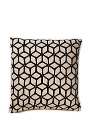 Sixtant, Cushion Cover - BLACK/NATURAL
