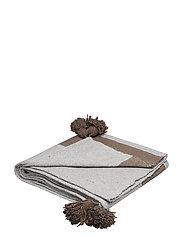 Piles cotton blanket - GREY/BROWN