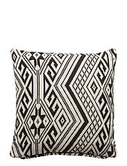 Day Cushion cover Jacquard - BLACK/WHITE
