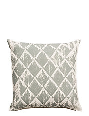 Day Little Ikat, Cushion Cover - GREEN/DUSTY PINK