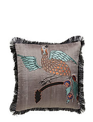 Day Bird of Paradise Cushion Cover Masala - GREY/TURQOISE