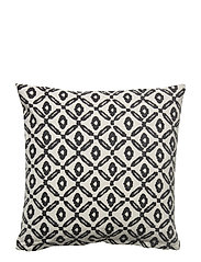 Day Printed Canvas Cushion Cover - BLACK/WHITE, PRINTED