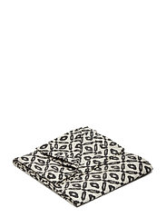 Day Printed Canvas blanket - BLACK/WHITE, PRINTED