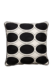 Day Ovale Cushion Cover - BLACK/WHITE