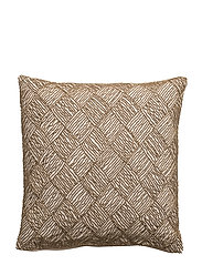 Symetric Pearl Cushion Cover - RAINY DAY/GOLD