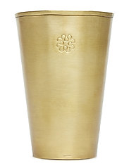 Lassi Vase Carved Golden - BRASS