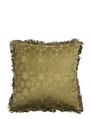Day Mahal Chenille fringes Cushion Cover - MOSS
