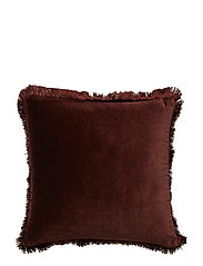 Day Classic Velvet Cushion Cover Deep Wine Fringes - DEEP WINE