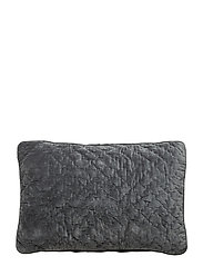 Velvet  Quited Cushion Cover - AGATH GREEN