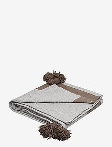 Piles cotton blanket - blankets - grey/brown