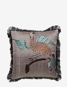 Day Bird of Paradise Cushion Cover Masala - pillowcases - grey/turqoise