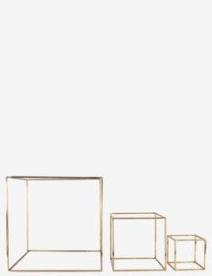 GEO DECOR SQUARE - interiør - brass