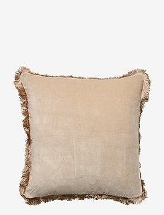 Day Classic Velvet Cushion Cover Concrete with Fringes - poszewki na poduszki ozdobne - concrete