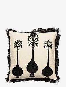 Day Vases Cushion Cover Fringes - pillowcases - nat. white/black