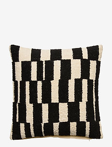Day Check Mate Cushion Cover - pudebetræk - nat. white/black