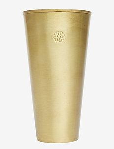 Lassi Vase Carved Golden - brass
