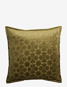 Day Mahal Chenille piping Cushion Cover - moss