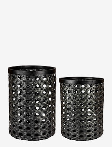 Day Black Bamboo strap basket, set of 2pcs - interiør - black