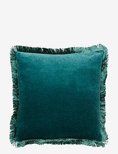 Day Classic Velvet Cushion Cover Deep Fringes - pillowcases - deep