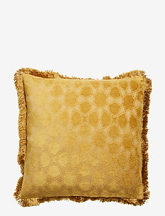 Day Mahal Gold Cushion Cover Fringes - putetrekk - gold