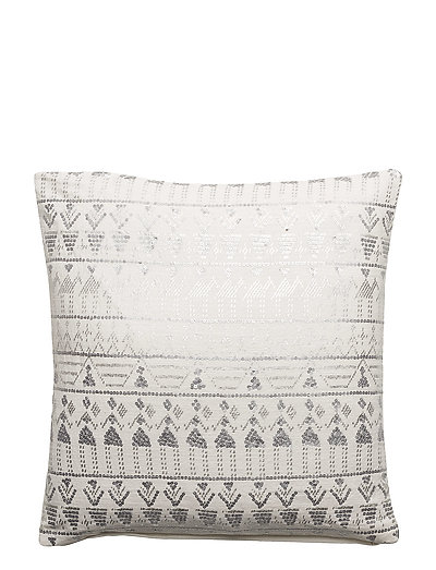 Day Ethenic Foil Cushion Cover - WHITE