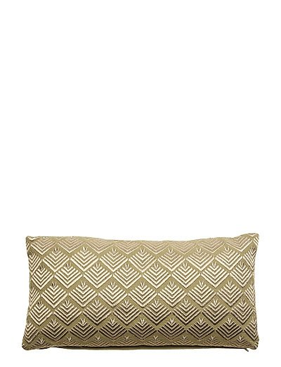 Day Phulkari Cushion, incl filling - MOSS