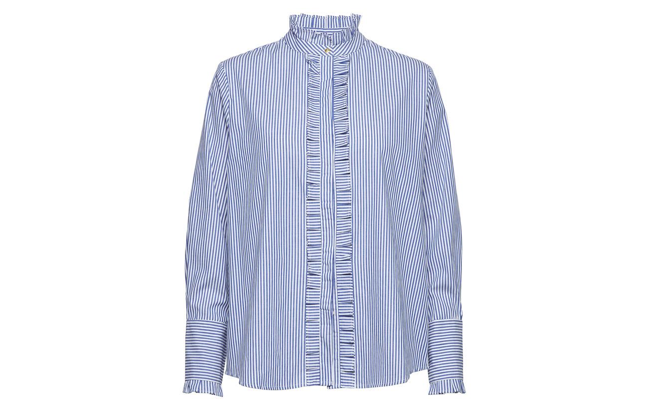 Stripes Birger Day Mikkelsen Peacoat 100 Formal Et Coton OqzRT