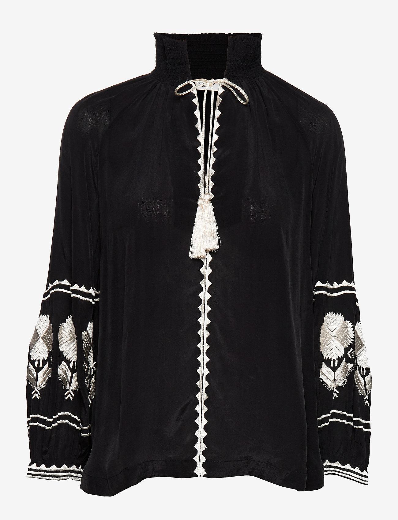 Day Birger et Mikkelsen - Day Crocus Solid - long sleeved blouses - black - 0