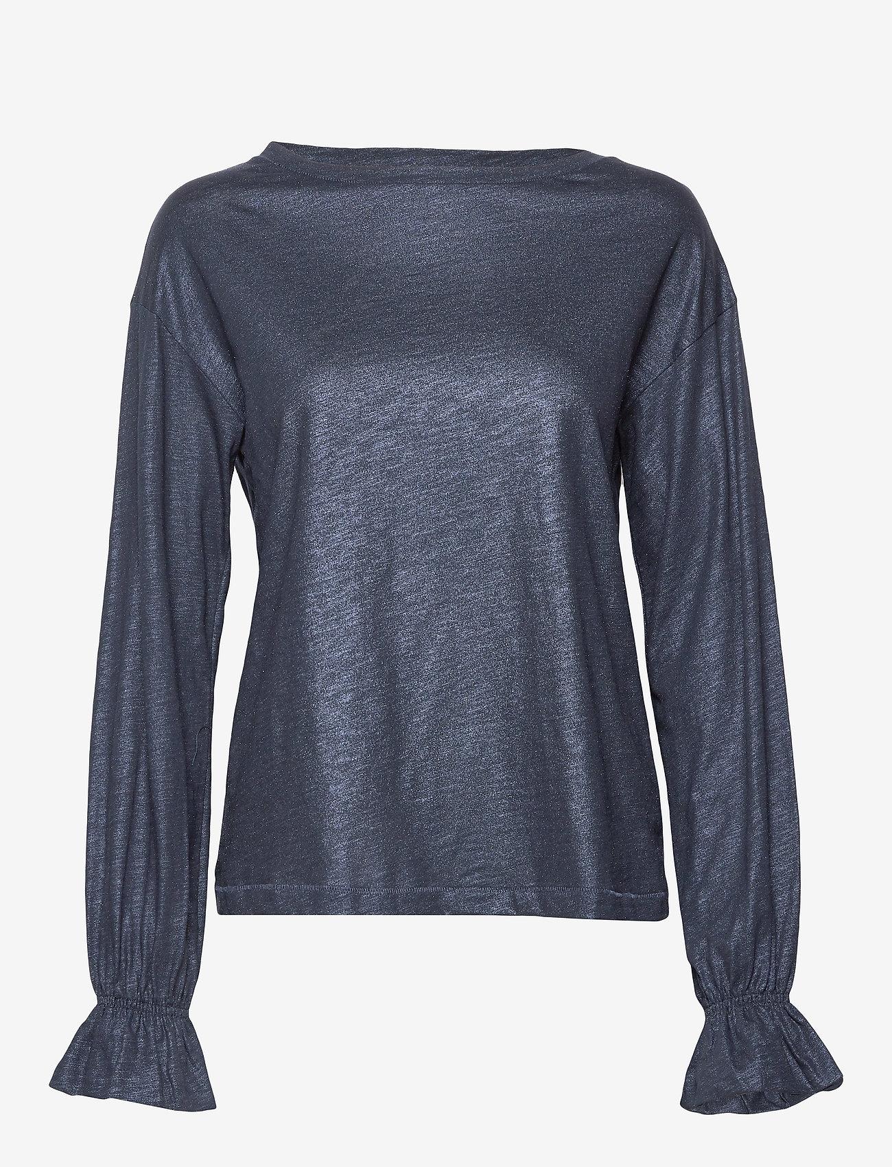 Day Birger et Mikkelsen - Day Again - long sleeved blouses - navy blazer - 0