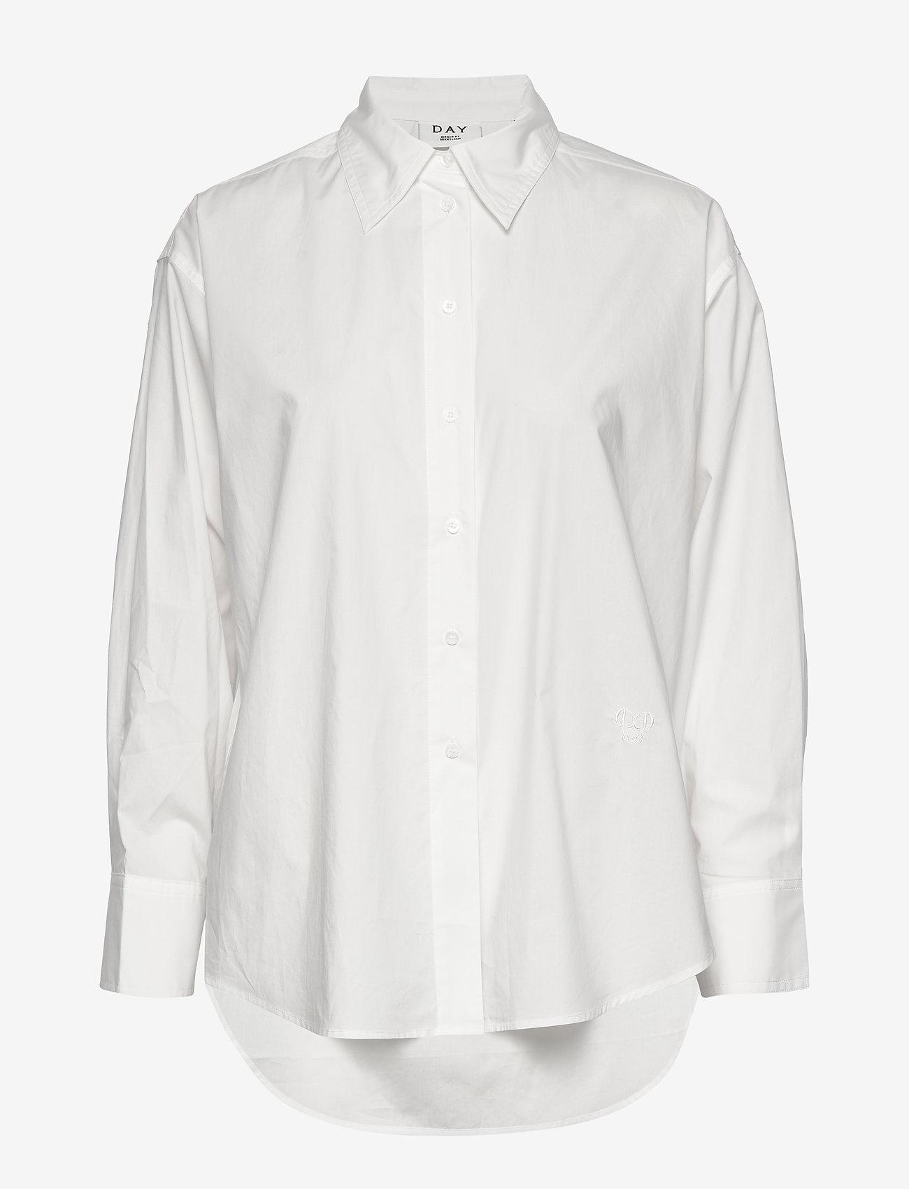 Day Birger et Mikkelsen - Day Barca - long-sleeved shirts - white fog - 0