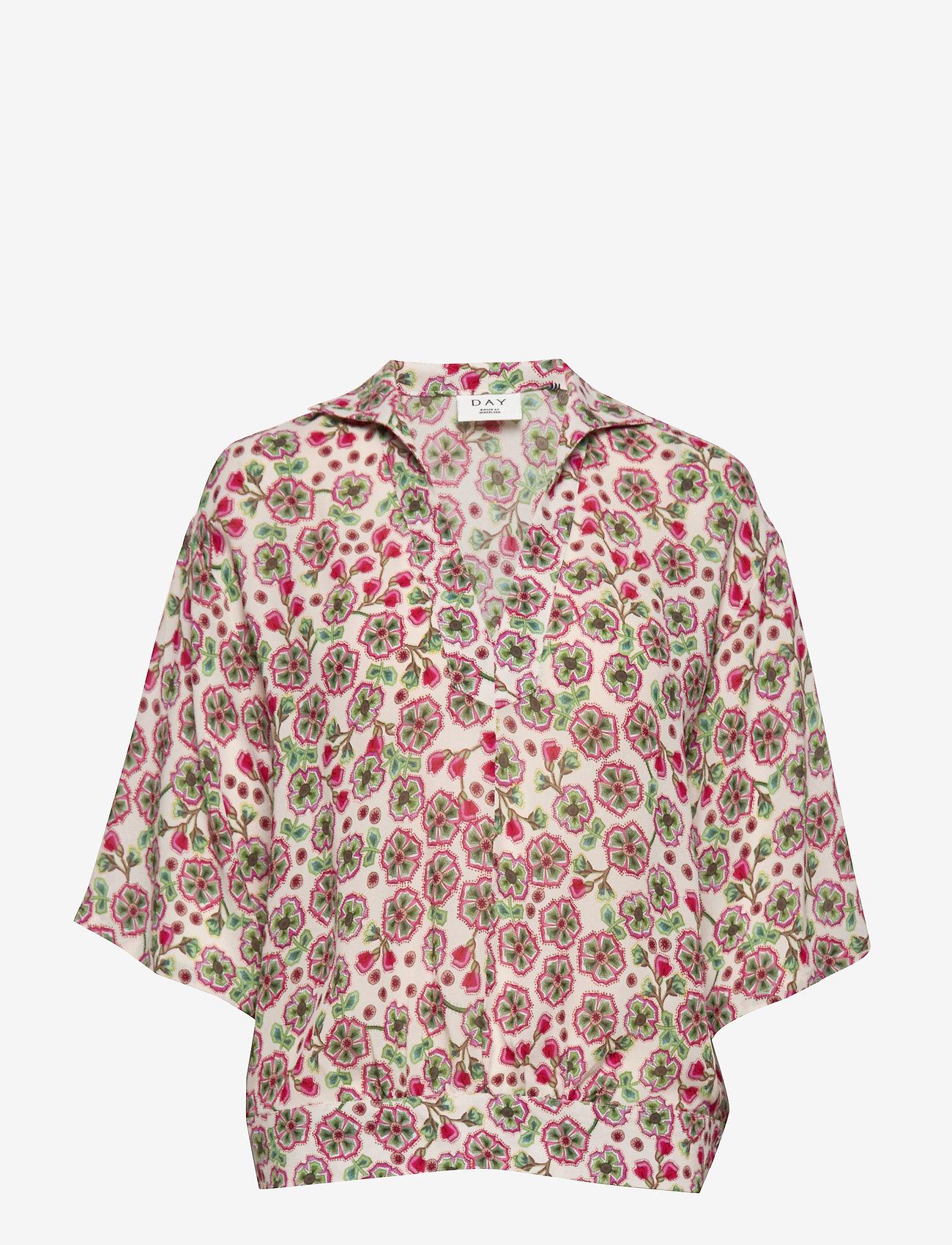Day Birger et Mikkelsen - Day Fiore - short-sleeved blouses - smoke - 0