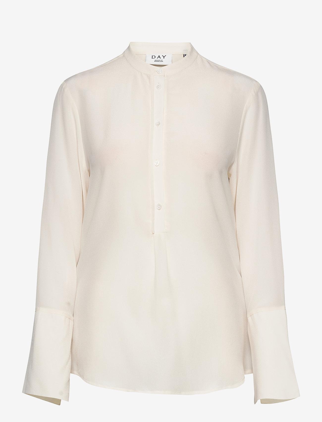 Day Birger et Mikkelsen - Day Fan - long sleeved blouses - ivory shade - 0
