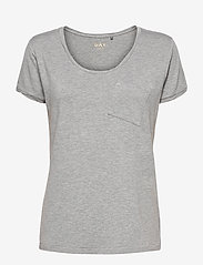 Day Birger et Mikkelsen - DAY New Clean Twist - t-shirts - medium grey mel. - 0