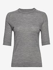 Day Birger et Mikkelsen - DAY Whitney - t-shirts basiques - medium grey mel. - 0