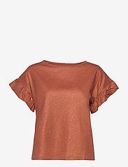 Day Birger et Mikkelsen - Day Permanent - t-shirts - nut - 0